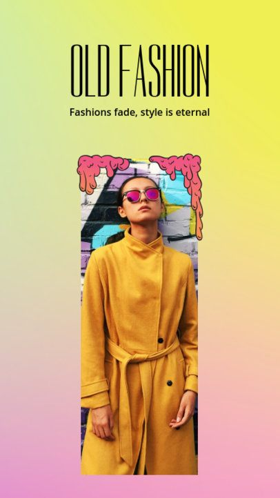 Fashionable Instagram Story Template 955d--1762