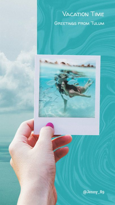 Insta Story Maker with Tropical Images 945b--1762