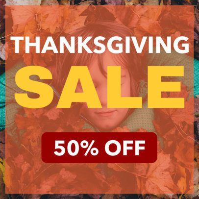 Ad Banner Design Template for a Thanksgiving Discount 248f-1770