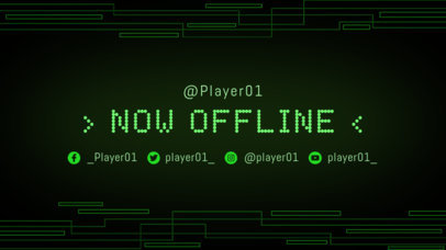 Twitch Offline Banner Maker with a Green Tech Background 975a--1762