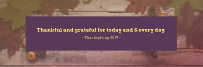 Twitter Header Maker for Thanksgiving with Pine Cones and Leaves in the Background 1094i-1769