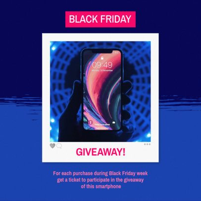 Cool Instagram Post Template for a Black Friday Giveaway 643h-1782