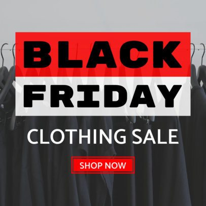 Clothing Sale Banner Maker for Black Friday 748c