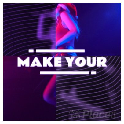 Instagram Video Maker for Musicians with Colorful Animations 904a 141