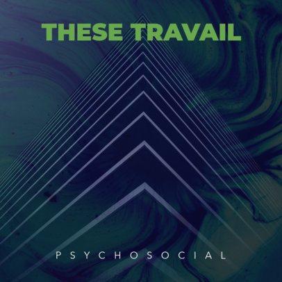 Psycho Rock Album Cover Template 464d--1762
