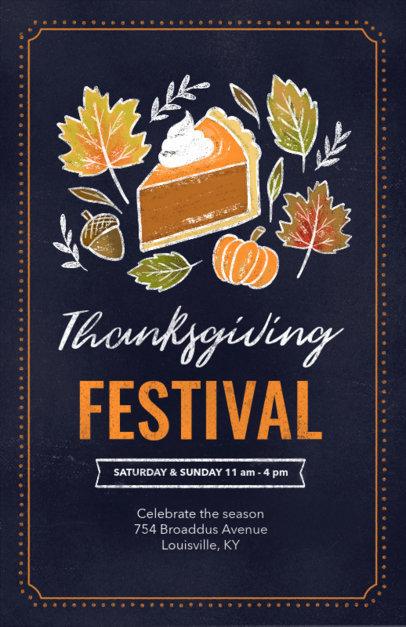 Flyer Maker for a Thanksgiving Festival 256f-1767