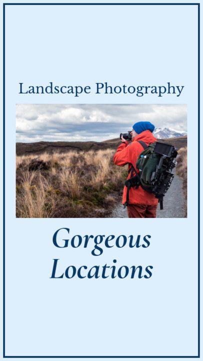 Landscape Photography Instagram Story Template 952d