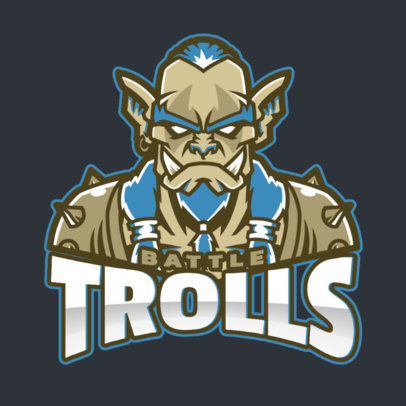 Gaming Logo Maker with a DOTA 2-Style Troll Illustration 2499aa