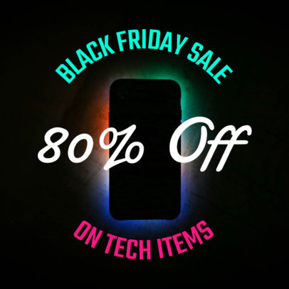 Instagram Post Design Template for Black Friday Tech Deals 583f-1782