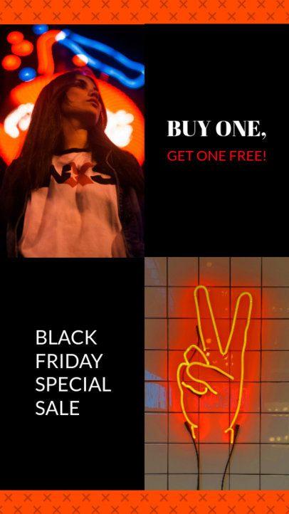 Instagram Story Generator for a BOGO Black Friday Offer 967h 1781