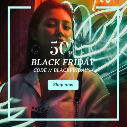 Stylish Online Banner Maker for a Black Friday Discount 362j-1783