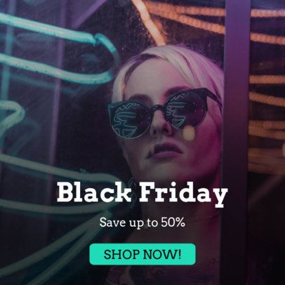 Fashion Banner Maker for a Black Friday Sale 742h-1783