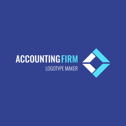 Logo Maker for an Accounting Firm Featuring a Geometric Graphic 1517c 2537