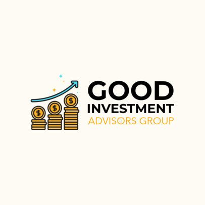 Logo Maker for an Investment Advisors Company Featuring Coins Clipart 1141k 2537