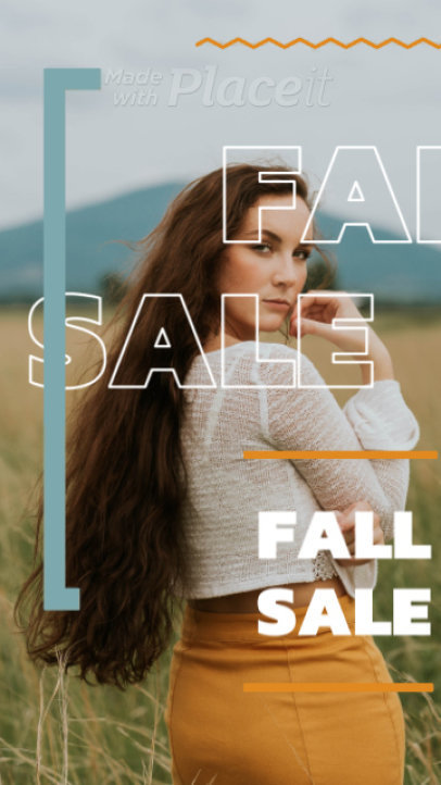 Instagram Story Video Maker for a Fall Sale 1393a-32