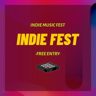 Instagram Post Maker for an Indie Music Fest 1774c