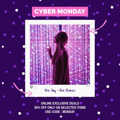 Instagram Post Maker for a Special Cyber Monday Sale 643i 1794