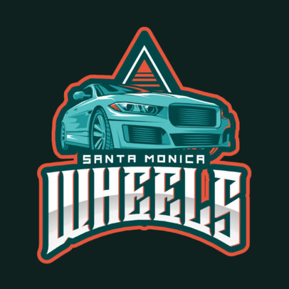 Gaming Logo Maker Inspired by Grand Theft Auto Cars 2507r