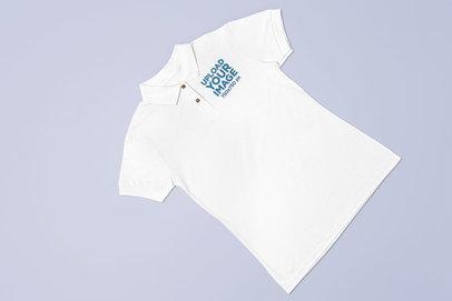 Polo Shirt Mockup over a Flat Surface 28925