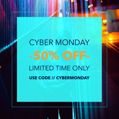 Social Post Maker for a Limited-Time Cyber Monday Offer 582h 1794