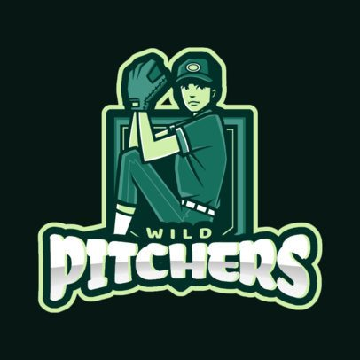 Logo Generator with a Female Pitcher 172j-2546