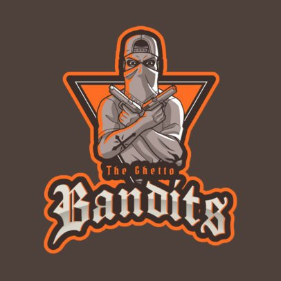 Logo Maker of a Masked Gang Member with a Grand Theft Auto Style 2507e