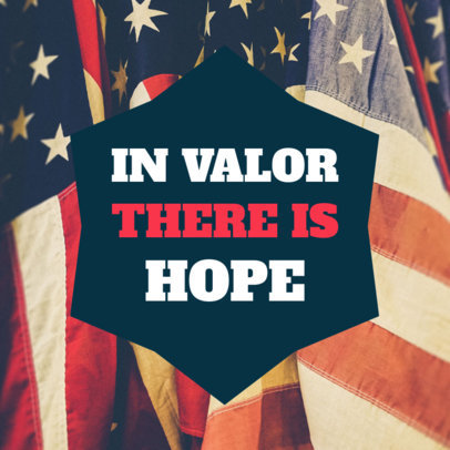 Social Post Template for a Veterans Day Message 582i 1801