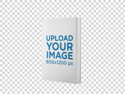 Ebook Mockup in an Angled Position Over a Flat Backdrop a9915