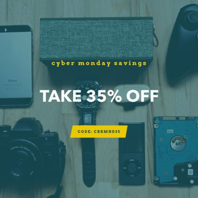 Cyber Monday Ad Banner Creator for a Tech Store 754k-1796