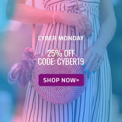 Ad Banner Maker for a Clothing Store on Cyber Monday 542i-1796