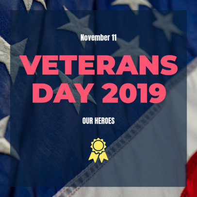 Bold Instagram Post Generator with a Veterans Day Theme 634v 1801