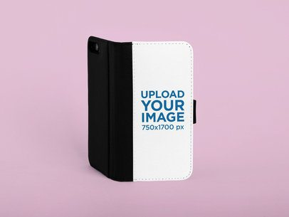 iPhone 7 Plus Wallet Case Mockup Featuring a Customizable Background 29219