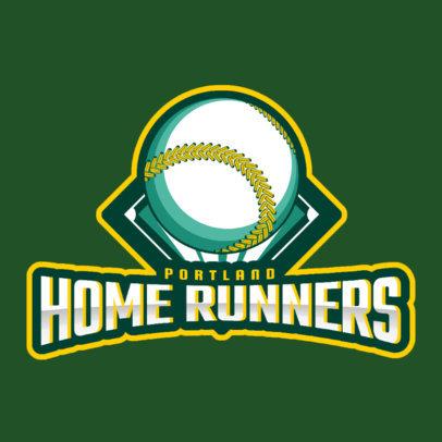 Sports Logo Maker Featuring an Illustrated Baseball Ball 172l-2547