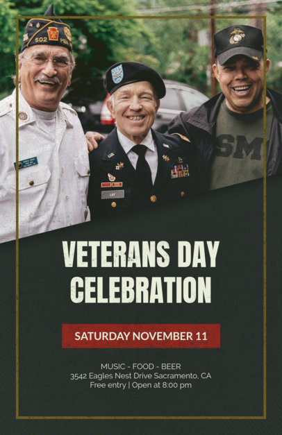 Flyer Template Featuring a Veterans Day Theme 1803
