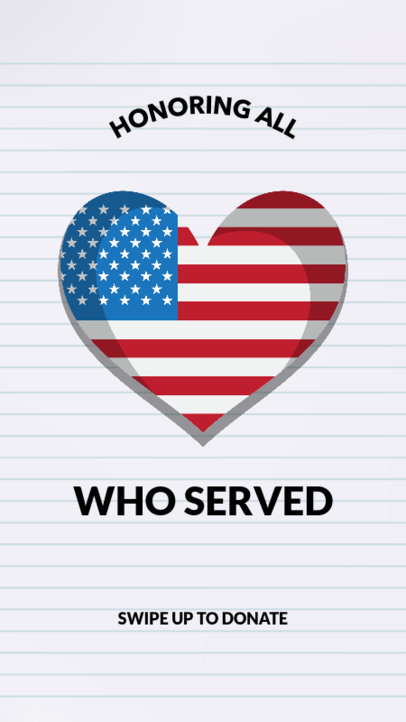 Instagram Story Template Honoring Veterans 1044o-1800
