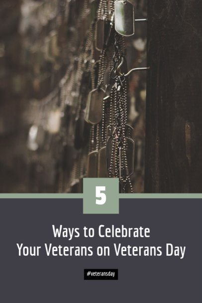 Veterans Day Pinterest Pin Maker with Military Identification Tags 626h-1804
