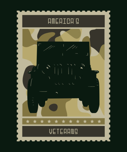 T-Shirt Design Creator for Veterans Day with a Camo Texture 1813c