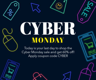 Cyber Monday Facebook Post Template with a Neon Style 622m-1798