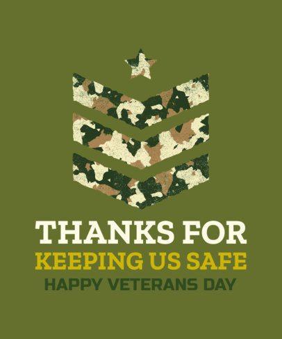 Veterans Day T-Shirt Design Template with an Arrow Stencil Clipart 1812b
