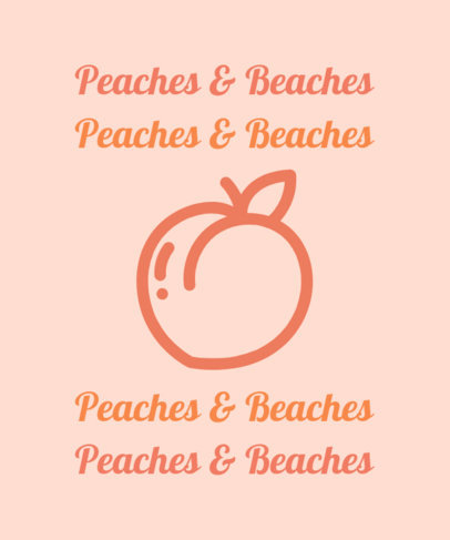 Quote T-Shirt Design Template with a Peach Silhouette 1808e