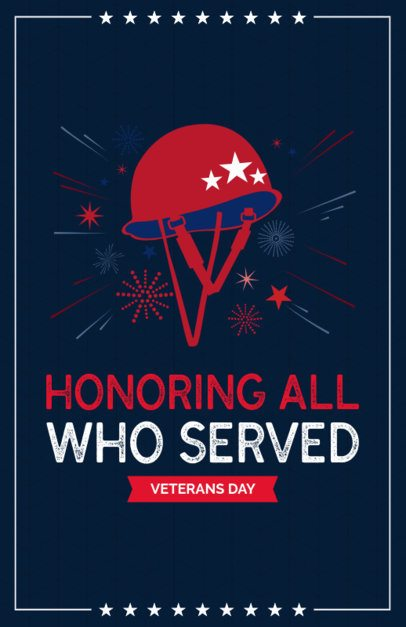 Flyer Template Honoring Veterans Day 153i 1805