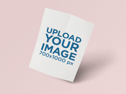 Letterhead Mockup of an Unfolded Paper on a Color-Custom Backdrop 351-el