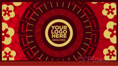 Intro Maker for a Logo Reveal with a Chinese New Year Theme 357
