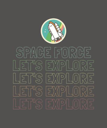 T-Shirt Design Maker with a Spaceship Cartoon 1809b