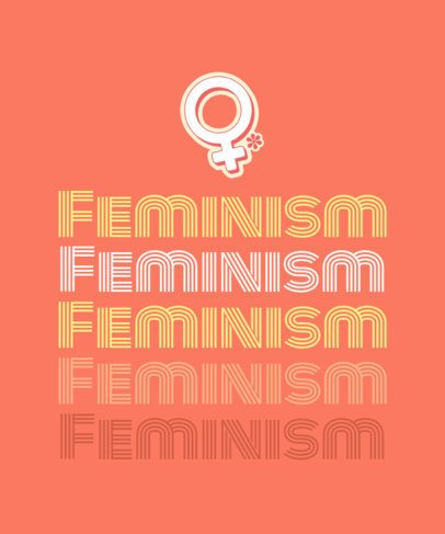 T-Shirt Design Creator with a Feminist Retro Sticker 1809d