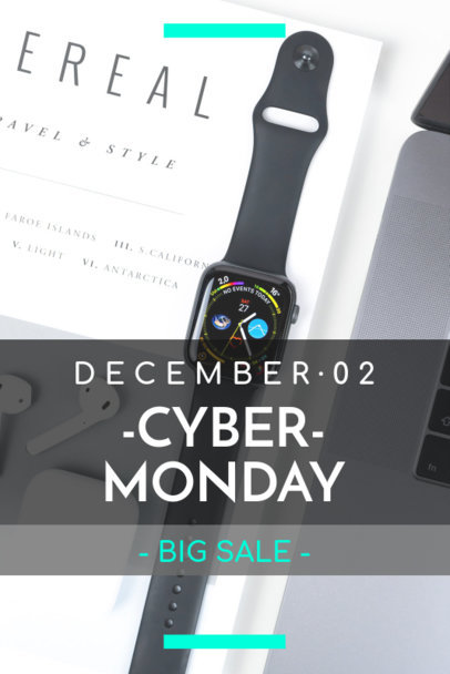 Cyber Monday Pinterest Pin Template for a Big Sale 1127i-1799