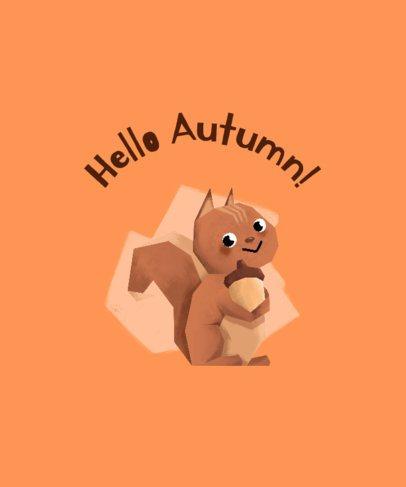 Autumn T-Shirt Design Generator with a Cute Squirrel 1807b