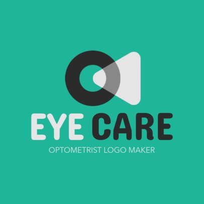 Optometrist Logo Template with Two Semi-Transparent Overlapping Shapes 1514e 2555
