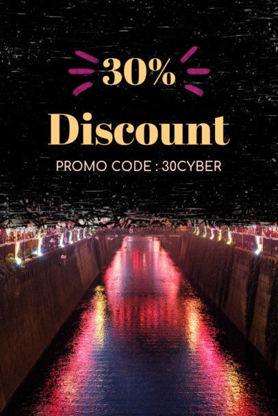 Pinterest Pin Maker for a Cyber Monday Discount Code on Travel Deals 614h-1799
