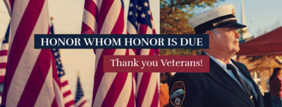 Facebook Cover Maker with a Veterans Day Quote 1803b